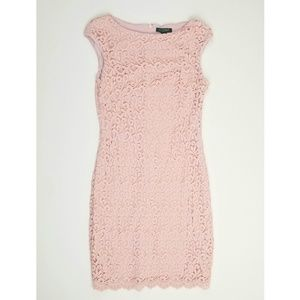 NWOT Ralph Lauren Pink Crochet Lace Mini Dress 14